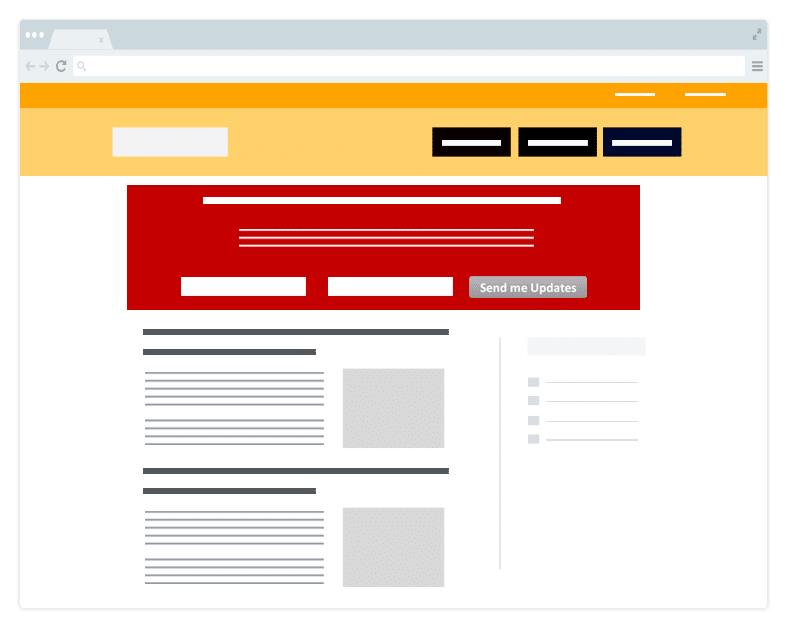 Feature Box for Lead Generation