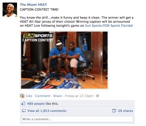Facebook Contest Caption