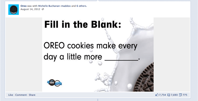 Facebook Contest Fill in the Blank