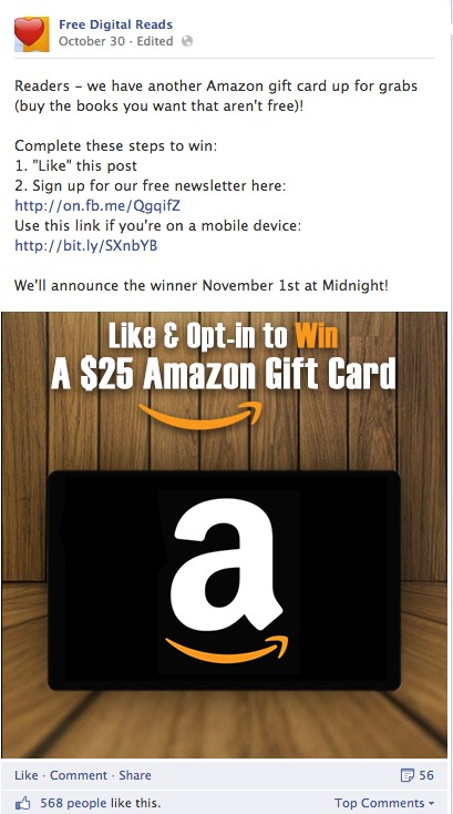 Facebook Contest Join Email List