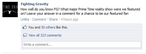 Facebook Contest Q&A