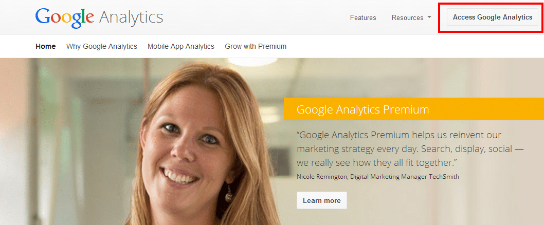 Google Analytics Access