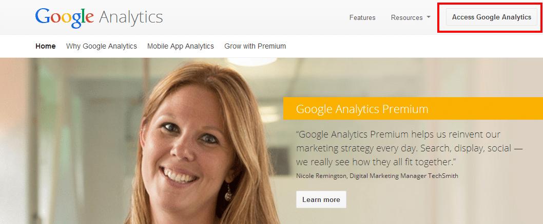 Google Analytics Access