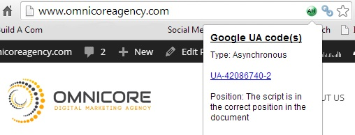 Google Analytics Code Detector