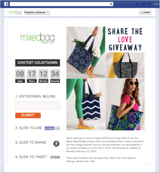Mixed Bag Design - Email List Contest