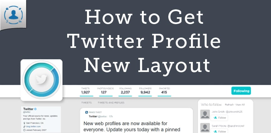 Twitter Profile Design Layout