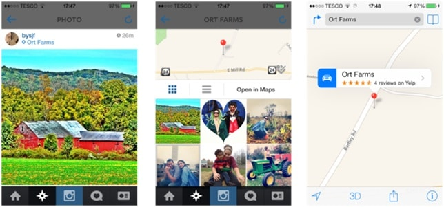 Instagram Photo Map Labeling