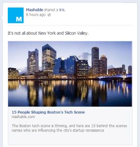 Facebook Link Thumbnail Post