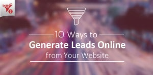 Generate Leads online from Website