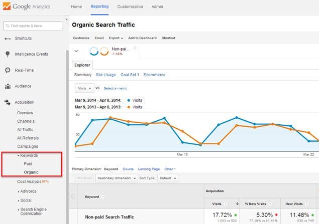 Google analytics paid traffic