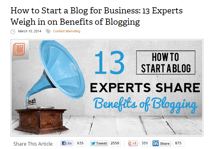 How to Start a Blog for Business 13 Experts Weigh in on its Benefits