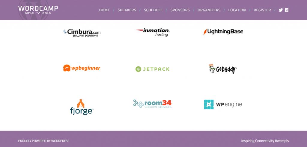 Sponsors WordCamp Minneapolis