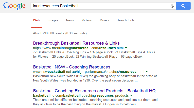 inurl resources Basketball Google Search
