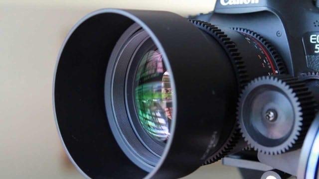 Rokinon Cine 85mm t:1.5 De-Clicked Aperture