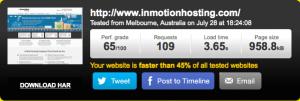 InMotion Hosting Speed