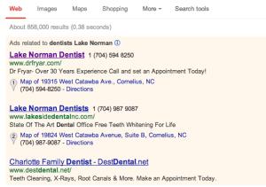 Dental PPC Ads Example