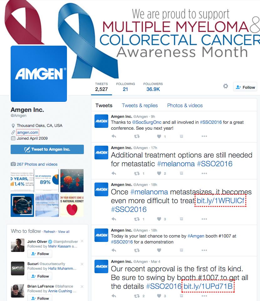 Amgen Twitter