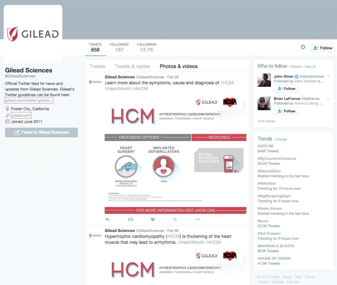 Gilead Twitter