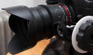 Rokinon Cine 35mm T1.5. Lens for Sony