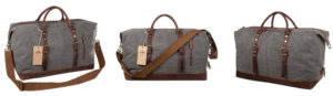 S-Zone Fabric Duffel with Leather Trim