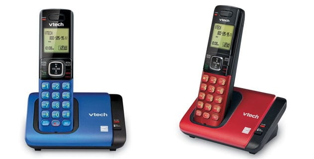 VTech CS6719-15 Cordless Telephone Blue Red