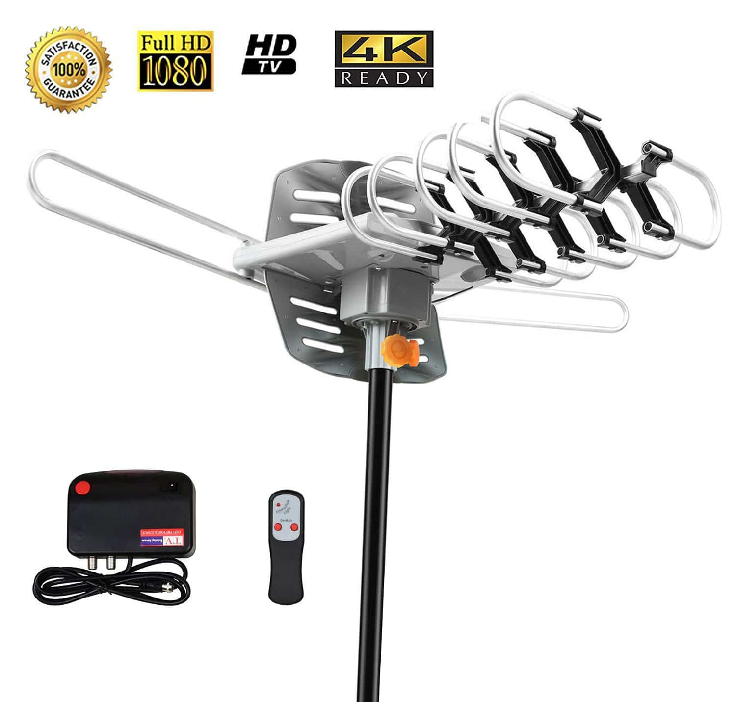 Made With What The Manufacturer Bills As Premium Materials Sobetter Amplified Outdoor 150 Mile Range Digital Tv Antenna Picks Up Vhf Signals From 40 To