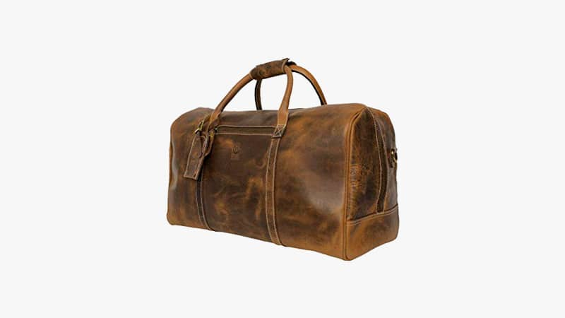 Crazy Horse Leather Travel Duffel