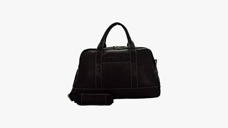 Kenneth Cole New York Leather Top-Zip Duffel