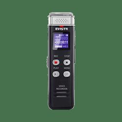 EVISTR Mini Digital Voice Recorder Black Table