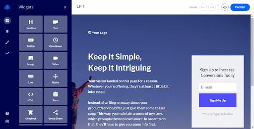 Checkout widget