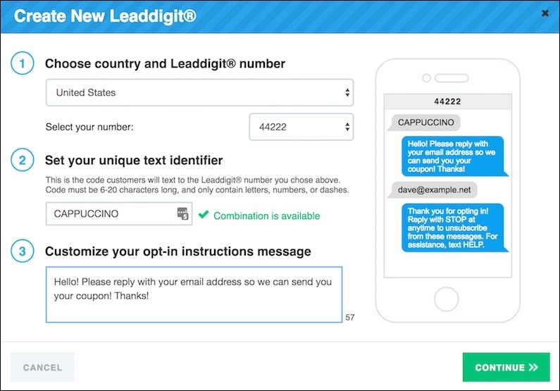 Create a new LeadDigit