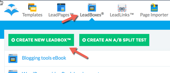 Creating a leadbox
