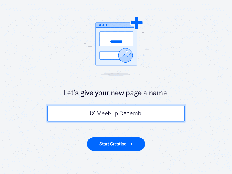 Creating a name for the page