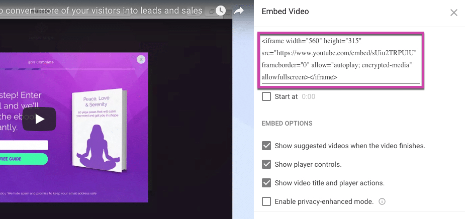 Embedding a video