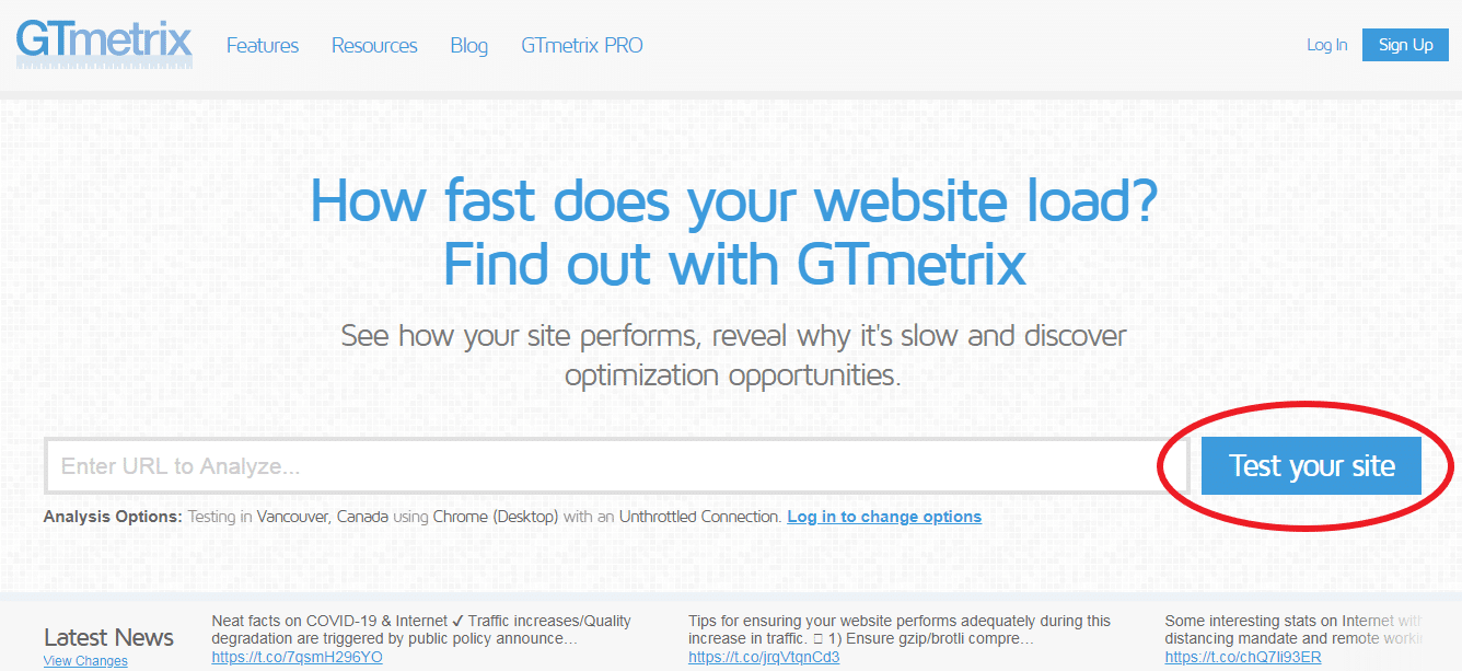 Gmetrix Test