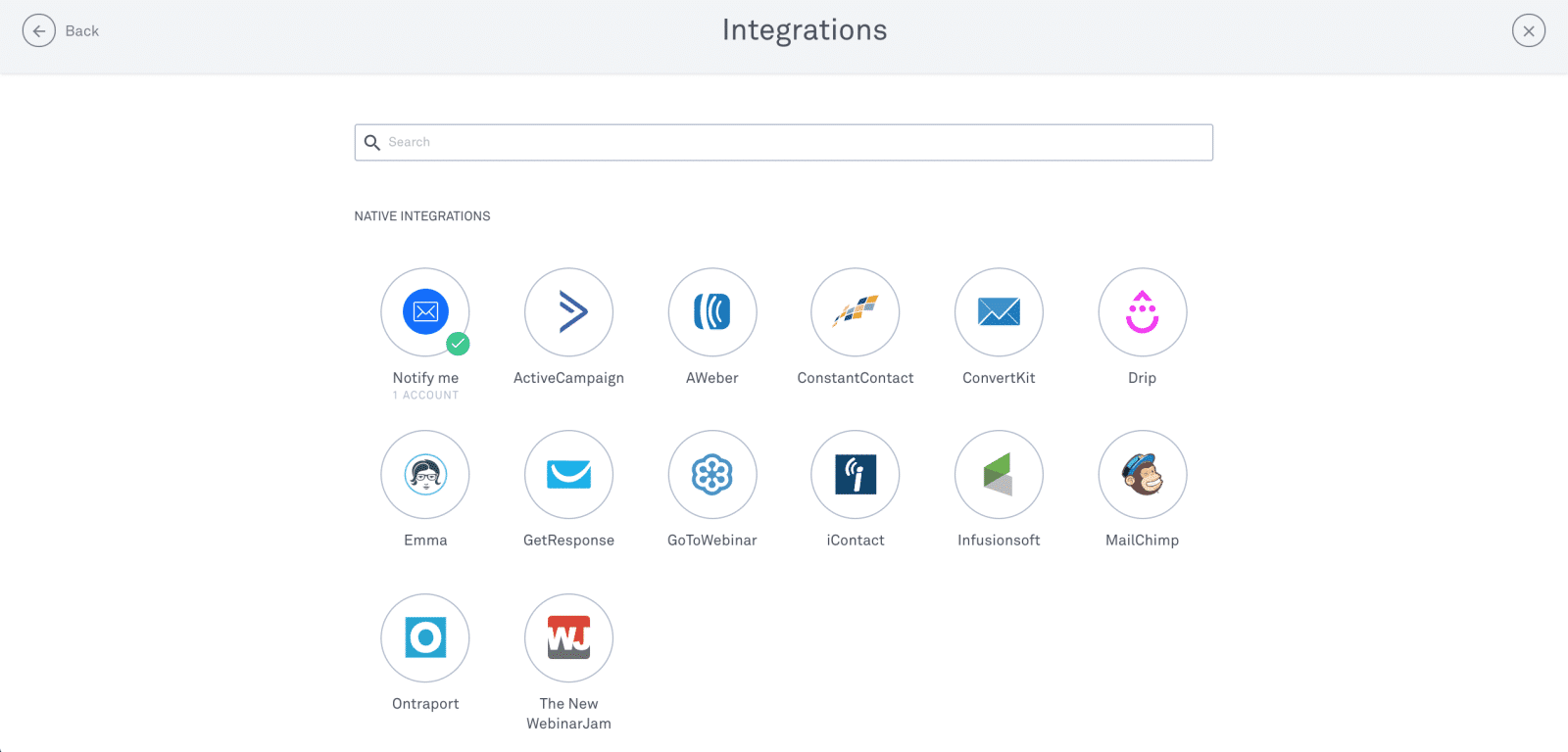 Integrations on Leadpages