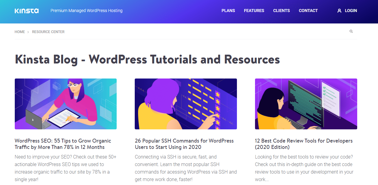 Kinsta Resource Center