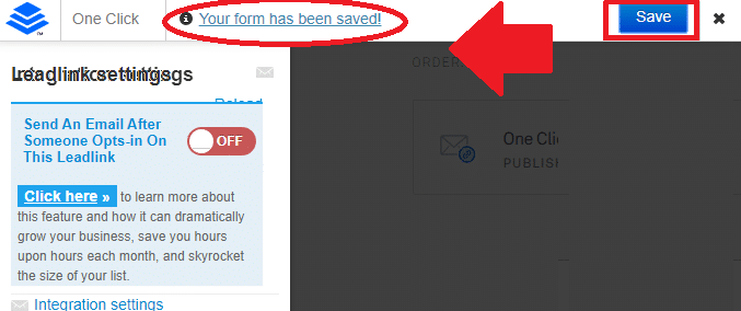 Save button Leadlinks