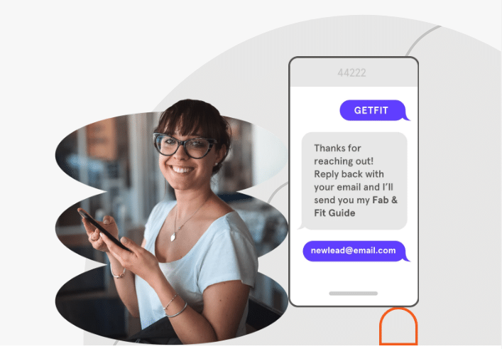 Text message to LeadPages