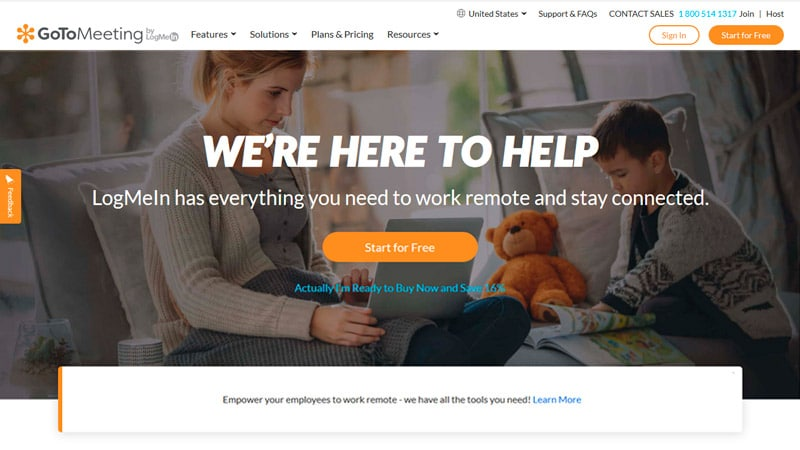 GotoMeeting Home Page