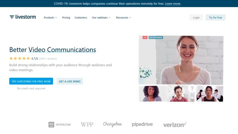 LiveStorm Home Page