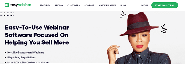EasiWebinar Home Page.